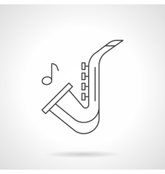 Jazz music flat line icon vector