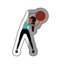 Isolated girl doing exercise design vector