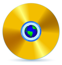 CD and Globe vector image