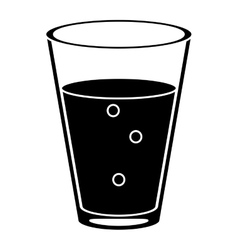 Cup glass coffee caffeine drink pictogram vector