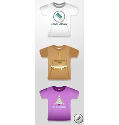 Pictures on t-shirts vector
