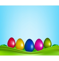 Easter color eggs vector