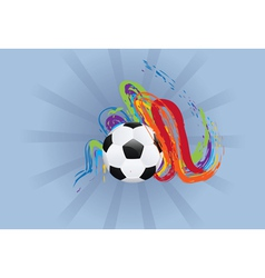 Soccer ball with brush strokes2 vector