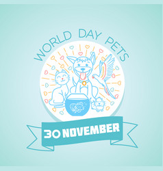 30 november world day pets vector