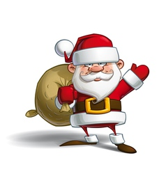 Happy santa sack of gifts vector