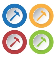 Set of four icons - claw hammer vector