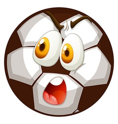 Facial expression on football vector