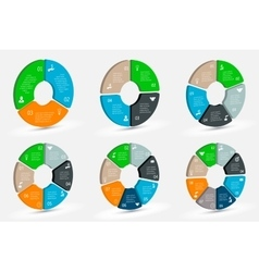 Isometric circle element for infographic vector