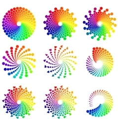 Color circle design elements vector