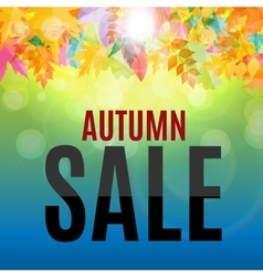 Shiny autumn leaves sale background vector