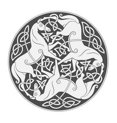 ancient celtic mythological symbol of horse vector image