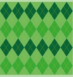 argyle pattern green rhombus seamless texture vector image
