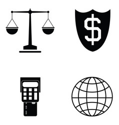 business icon set vector image vector image
