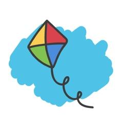 Cartoon doodle kite vector