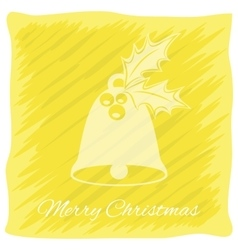Christmas or New Year s greeting card logo vector image vector image