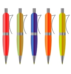 Colorful pens vector