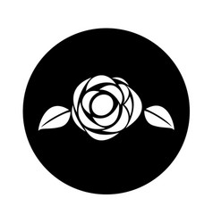 Cute rose isolated icon vector