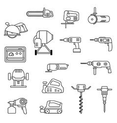 electric power tools set vector image