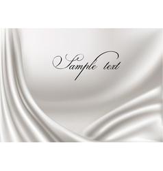 elegant white silk texture vector image vector image