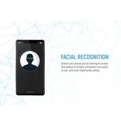 Face recognition system in smartphone vector