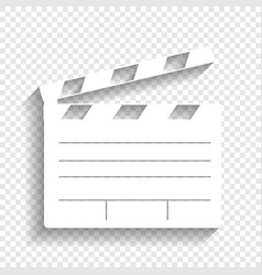 Film clap board cinema sign white icon vector