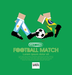 Football Match EPS10 vector image vector image