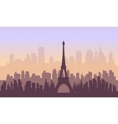France city and eiffel tower of silhouette vector image vector image