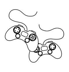 Isolated videogame control silhouette vector