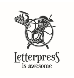 Letterpress is awesome vector