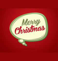 Merry christmas text in balloons vector
