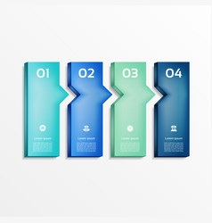 Modern infographics options banner vector
