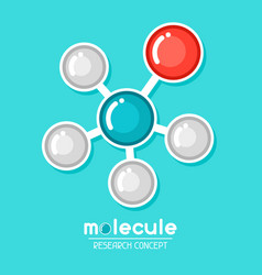 molecular structure emblem research concept in vector image