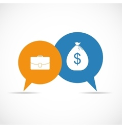 Money Bag in Modern Flat Style Icon Concept for vector image vector image