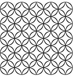 Monochrome seamless geometrical star pattern vector