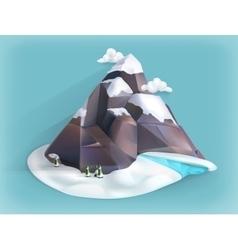 Mountain winter icon vector image
