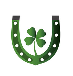 patrick day horseshoe vector image vector image