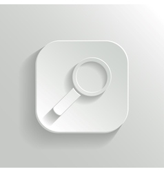 Search icon - white app button vector image vector image