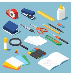 stationery set vector image vector image
