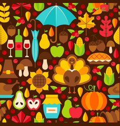 Thanksgiving holiday seamless pattern vector