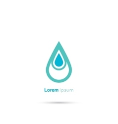 Water drop abstract vector image