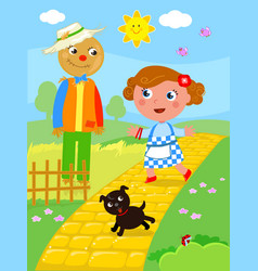 Wonderful wizard of oz 02 the scarecrow vector