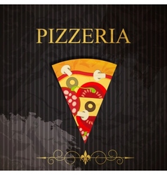 PIzzeria menu vector image