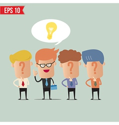 Business man with idea concept - - EPS10 vector image