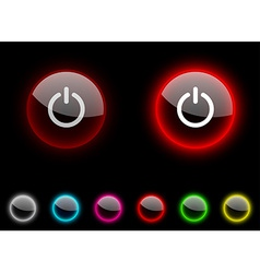 Switch button vector