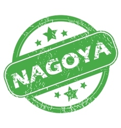 Nagoya green stamp vector