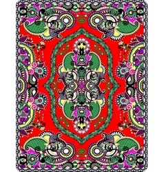 Elaborate original floral large area carpet design vector