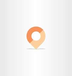Location map marker navigation icon vector
