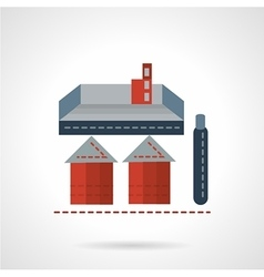 Storage structure flat icon vector