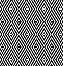 Black and white striped diamonds in rows vector