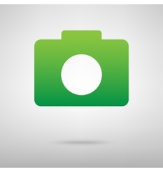 Camera green icon vector